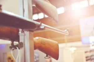 Vintage or inherited rifles on a rack